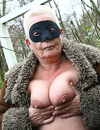 Kinky mature nudist goes all the way