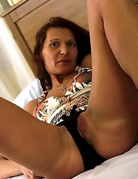 Lovely housewife playing with her pussy